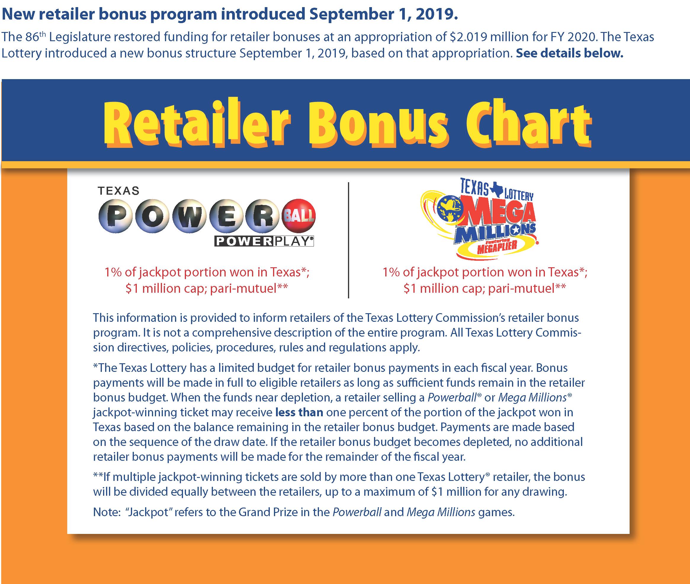 Texas Lottery Bonus Program