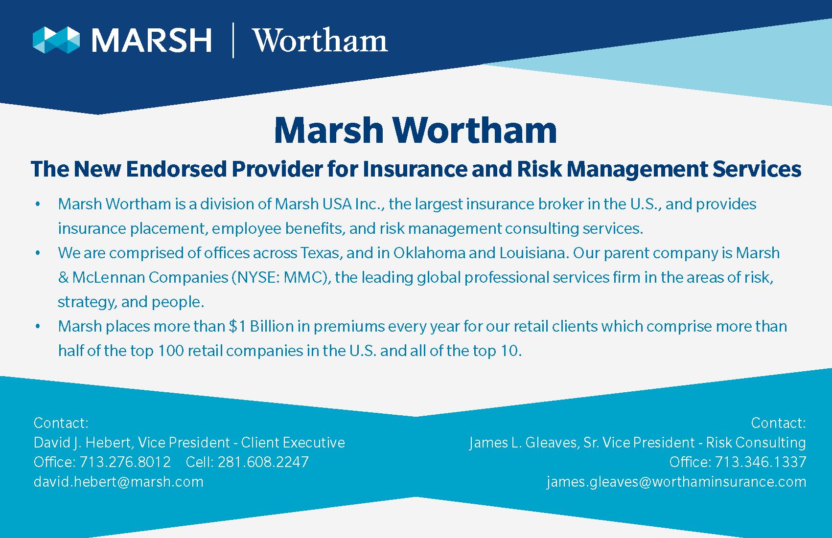 Marsh Wortham Ad